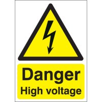 Danger High Voltage Polycarbonate Signs