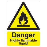Danger Highly Flammable Liquid Signs