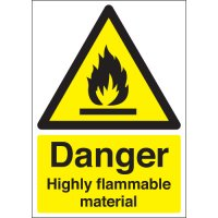 Danger Highly Flammable Material Signs