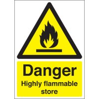 Danger Highly Flammable Store Signs