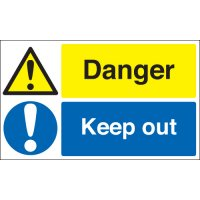 Durable and essential danger keep out signs