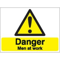 Danger Men At Work Stanchion Signs
