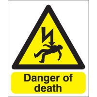 Danger Of Death Polycarbonate Signs