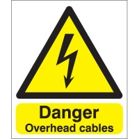 Danger Overhead Cables Signs