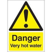 Danger Very Hot Water Signs