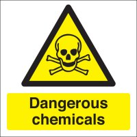 Dangerous Chemicals Photoluminescent Signs