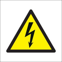 Electricity Symbol (White Background) Signs