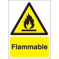 Self-Adhesive Flammable Warning Signs