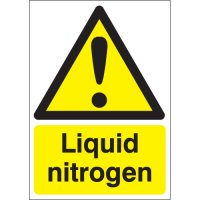 Rigid Plastic And Vinyl Liquid Nitrogen Signs