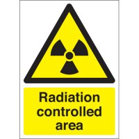 Rigid Plastic And Vinyl Radiation Controlled Area Warning Signs
