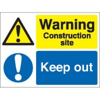 Warning Construction Site... Multi-Message Stanchion Signs