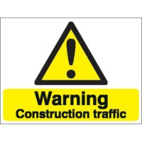 Warning Construction Traffic Stanchion Signs