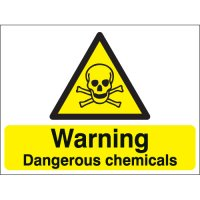 Warning Dangerous Chemicals Stanchion Signs