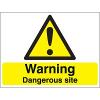 Warning Dangerous Site Stanchion Signs
