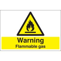 Warning Flammable Gas Stanchion Signs