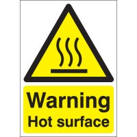 Durable A4 'warning hot surface' safety signs