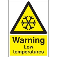 Warning Low Temperature Signs