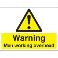 Warning Men Working Overhead Stanchion Signs
