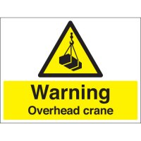 Warning Overhead Crane Stanchion Signs