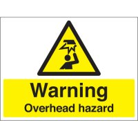 Warning Overhead Hazard Stanchion Signs