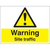 Warning Site Traffic Stanchion Signs