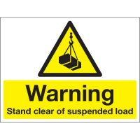 High Visibility Warning Stanchion Sign for Suspended Loads