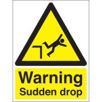 Warning Sudden Drop Signs