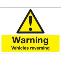 Warning Vehicles Reversing Stanchion Signs