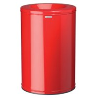 Brightly coloured fire retardant waste paper bins