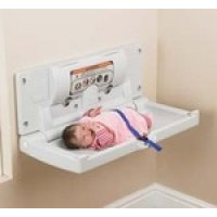 Fold-down changing stations for babies