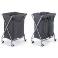 Tubular Steel X-Frame Folding Storage Trolley with Polyester Bag