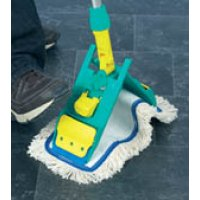 TTS Flat Mop System with Rust-Proof Plastic Heads