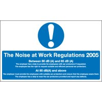 The Noise At Work Regulations 2005 Information Signs