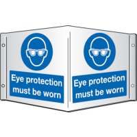 Eye Protection Must Be Worn Projecting 3D Signs