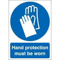 Hand protection signs conforming to UK & EU legislation