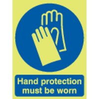 Hand Protection... Photoluminescent Signs
