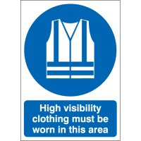 Mandatory Personal Protective Equipment Signs - High Visibility Clothing Must Be Worn