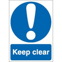 Keep Clear Sign - single