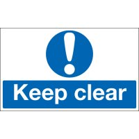 Keep Clear Stanchion Signs
