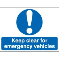 Essential Keep Clear For Emergency Vehicles Signs