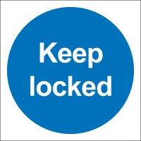 Keep Locked Photoluminescent Signs