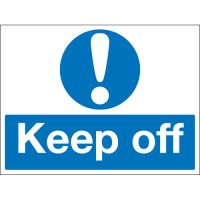 Keep Off Stanchion Signs
