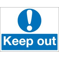 Keep Out Stanchion Signs