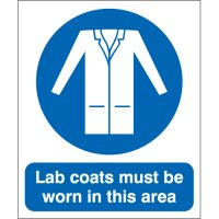 Plastic And Vinyl Signs With 'Lab Coats Must Be Worn In This Area' Message