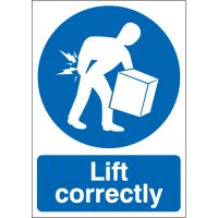 Lift Correctly Signs