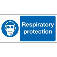 Plastic And Vinyl Workplace Respiratory Protection Signs