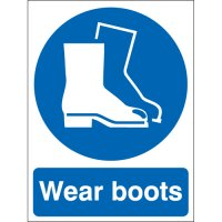 Universal Wear Boots Sign