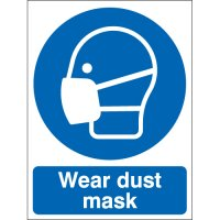 Plastic Or Vinyl 'Wear Dust Mask' Signs