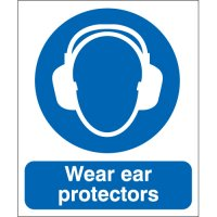 Wear Ear Protectors Polycarbonate Signs
