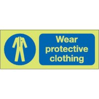 Wear Protective Clothing Photoluminescent Signs